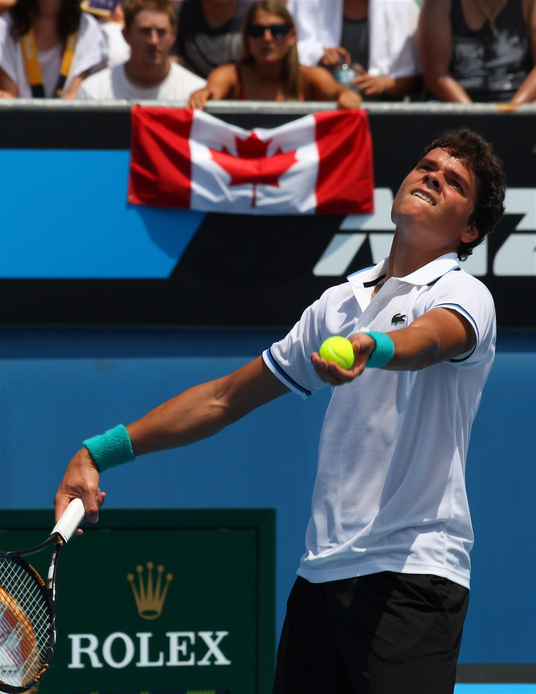 SPORTS: Milos Raonic rising fast at Australian Open